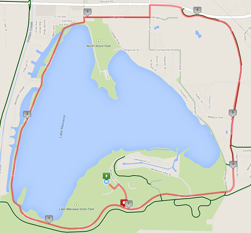 Black Squirrel Triathlon Bike Course